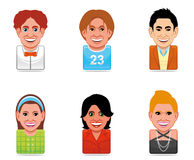 Avatar people icons Stock Images
