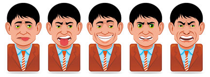 Avatar people icons (facial expressions) Royalty Free Stock Image