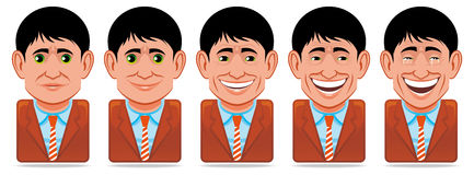 Avatar people icons (facial expressions:happiness) Royalty Free Stock Photos