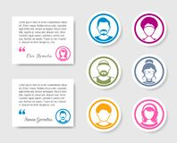 Avatar people icons for feedback and ratings royalty free illustration