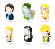 Avatar people internet icon set Stock Photos