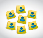 Avatar people on a post. illustration design Royalty Free Stock Photography