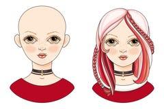 Avatar piękna dziewczyna z egzotyczną fryzurą Zdjęcie Stock