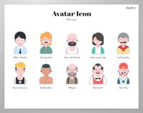 Avatar pictogram vlak pak royalty-vrije illustratie