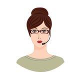Avatar Pictogram Vrouwelijk sociaal profiel Avatar geplaatste mensen Royalty-vrije Stock Afbeeldingen