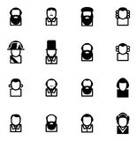 Avatar Pictogrammen Historische Cijfers Royalty-vrije Stock Afbeeldingen