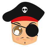 Avatar of a pirate Royalty Free Stock Images