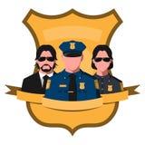 Avatar plat d'équipe de police illustration stock