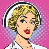 Avatar portrait of a retro nurse royalty free illustration