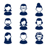 Avatar profile icon set including male and female. Vector illustration Stock Photos