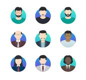 Avatar profiles minimalistic icons anonymous people of different nationalities. Vector illustration stock illustration
