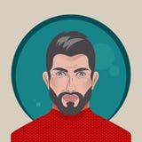 Avatar przystojny mężczyzna royalty ilustracja
