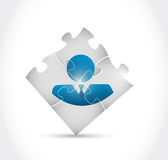 Avatar puzzle pieces illustration design Stock Photos