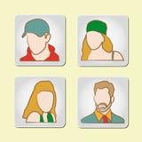 Avatar - quatro ícone #2 ajustado ilustração royalty free