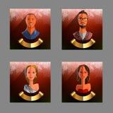avatar Raccolta del ` s del nuovo anno degli avatar della gente Vettore Immagine Stock Libera da Diritti