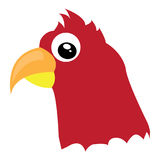 Avatar of red makaw Stock Photo