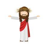 Avatar religious design of jesus christ. Illustration Stock Photo