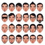 Avatar, retratos dos homens. Fotografia de Stock