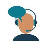 Avatar słuchawki usługa centrum telefonicznego rozmowa royalty ilustracja