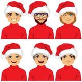 Avatar Santa Claus Hat degli uomini illustrazione vettoriale