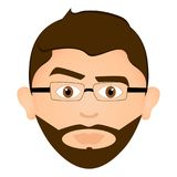 Serious man avatar. Avatar of a serious man, vector illustration Royalty Free Stock Image