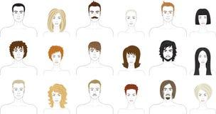 Avatar set Stock Image