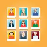 Avatar. Set of avatar flat design icon he he Stock Image