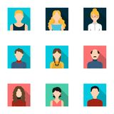 Avatar set icons in flat style. Big collection of avatar vector symbol  Stock Images