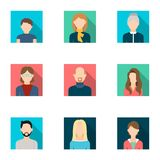 Avatar set icons in flat style. Big collection of avatar vector symbol stock illustration Royalty Free Stock Images
