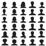 Avatar set. People profile silhouettes Royalty Free Stock Photography