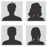 Avatar set. People profile silhouettes Stock Image