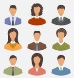 Avatar setu przodu portreta biurowego pracownika ludzie biznesu dla nas Fotografia Royalty Free