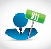 911 avatar sign concept illustration design. Over white royalty free illustration