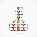 Avatar silhouet Royalty-vrije Stock Afbeeldingen