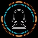 Avatar silhouette icon - vector user profile vector illustration