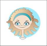 Avatar smiling girl Stock Image