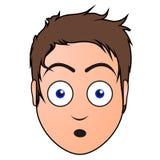 Avatar sorprendido del hombre stock de ilustración