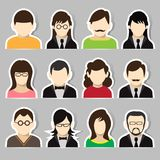 Avatar sticker set Stock Photography