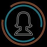 Avatar sylwetki ikona - wektorowy użytkownika profil ilustracja wektor