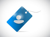 Avatar tag illustration design Royalty Free Stock Images