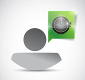 Avatar and time watch illustration design Stock Photography