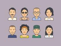 Avatar twarzy ikony royalty ilustracja
