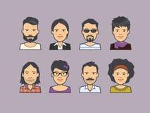 Avatar twarzy ikony ilustracji