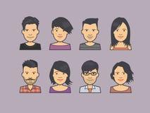 Avatar twarzy ikony ilustracja wektor