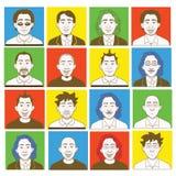avatar tworzenia zestawu samiec Obraz Stock