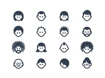 Avatar and user icons Royalty Free Stock Images