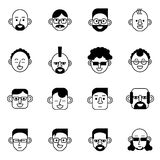 Avatar ,user and person icons set vector illustration Royalty Free Stock Images
