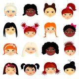 Avatar ustawiający z kobietami różny pochodzenie etniczne ilustracji