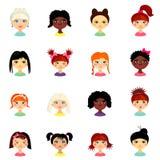 Avatar ustawiający z kobietami różny pochodzenie etniczne początek ilustracja wektor