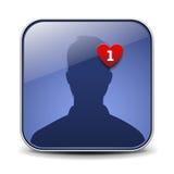 Avatar van de gebruiker pictogram Stock Foto's